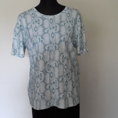 BNWT  Womens  GINGER &SMART Size L Short Sleeve/T-shirts Blue/White RRP $179.00