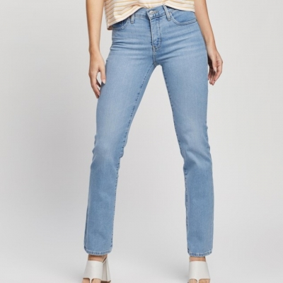 Levis Womens Jeans  314 Shaping Straight Jeans Blue Size 32