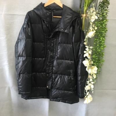 Black Barret By Neil Barret Mens Puffer Jacket Black  Size M