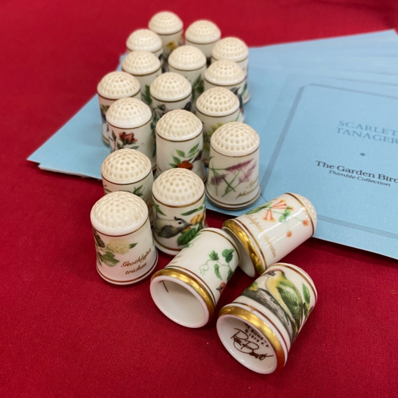 The Garden Birds Thimble Collection by Franklin Mint