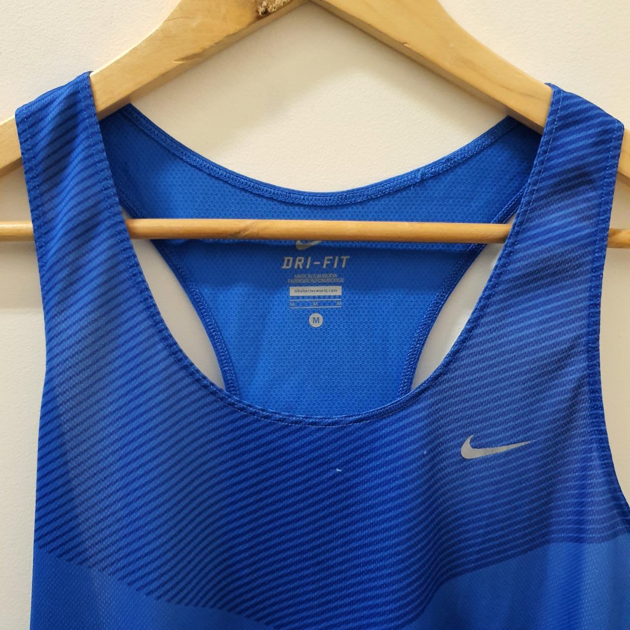Men's 'Nike' Blue Tank - Size M