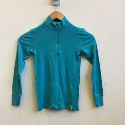 Kathmandu Boys  Size M Sportswear Aqua Long Sleeves Activewear Top