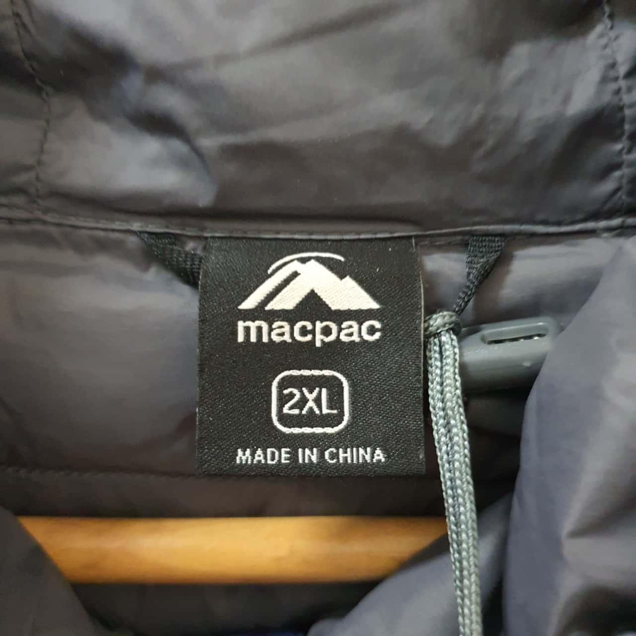 Men's 'Macpac' Uber hooded down Jacket - Size XXL