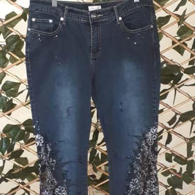 Roubie B Beaded Jeans Size 12
