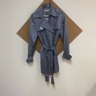 Womens Rickis Grey Trenchcoat