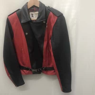 Walden Miller Womens  Size S Leather Black /Red