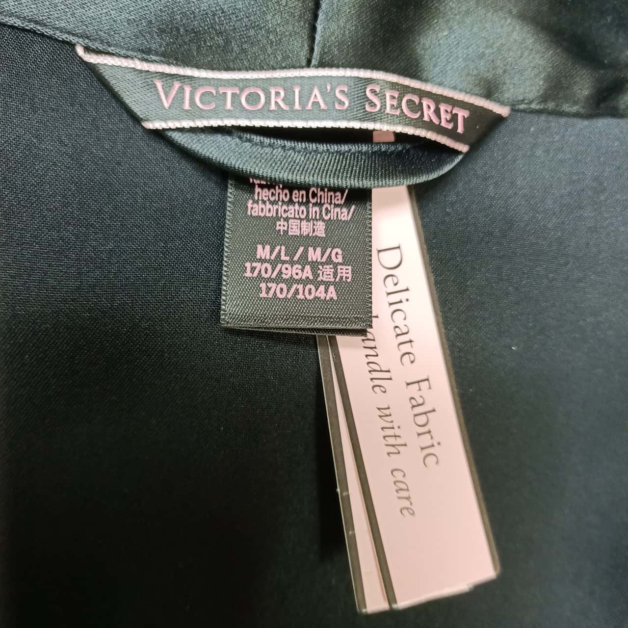 Victorias Secret Womens Black /Pink Robe