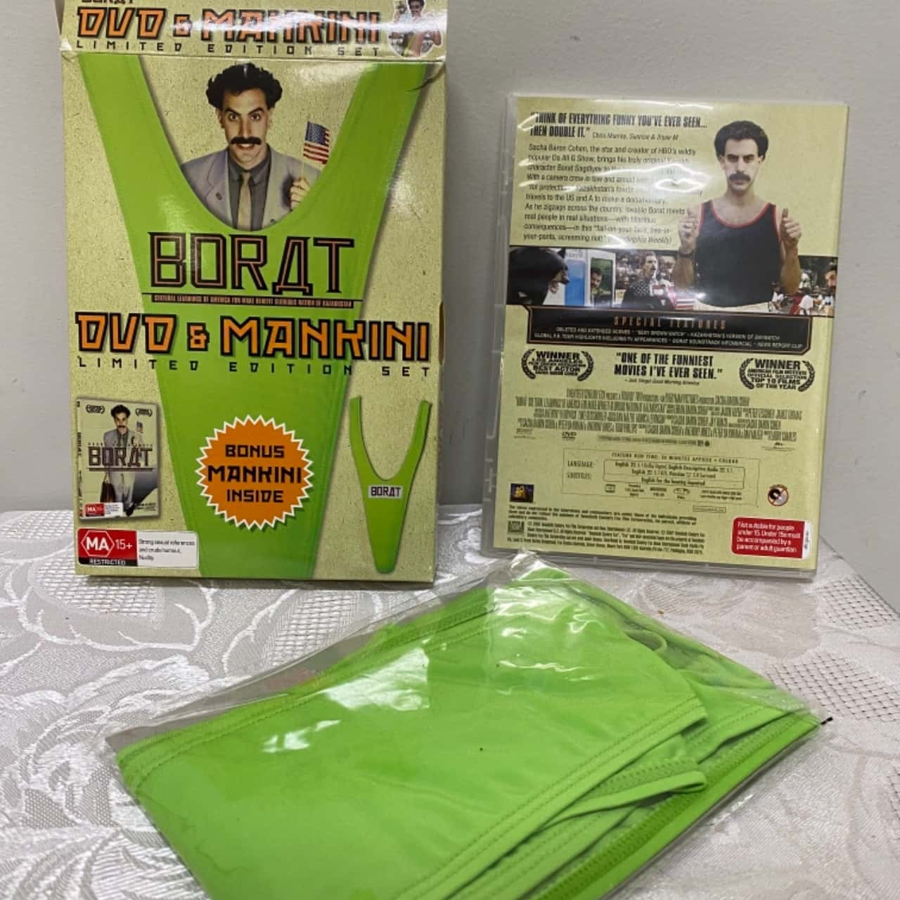 Borat DVD and Mankini Limited Edition Set New