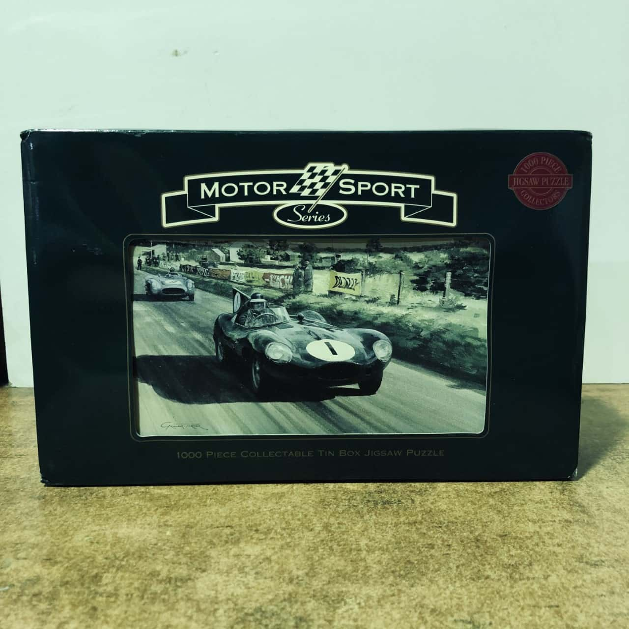 'REDUCED' Motor Sports Jigsaw 1000 Piece Puzzle In Collectible Tin