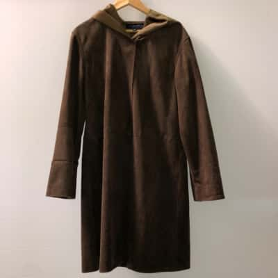 Witchery Womens  Size 12 Fur /Trench Coat Brown