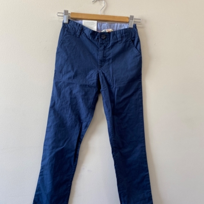 H&M Boys Slim Leg Pants Size 8 Navy Blue