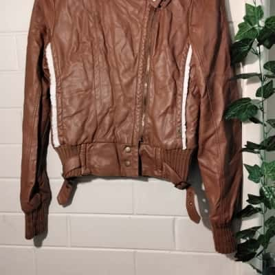 Womens  Size M Bomber Jacket Brown Used