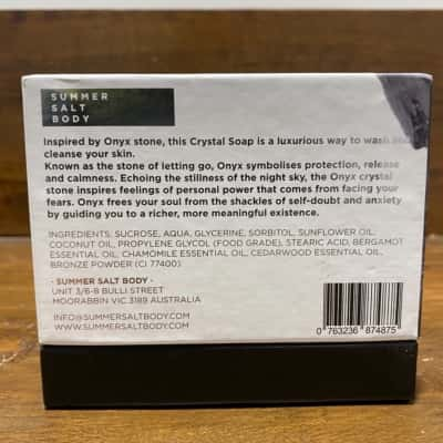 Natural Vegan Handmade Crystal Soap Onyx