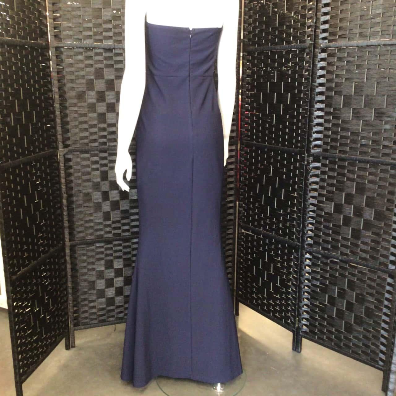NWOT Womens  SHOWPO Size 10 Maxi Dress Formal Navy Blue