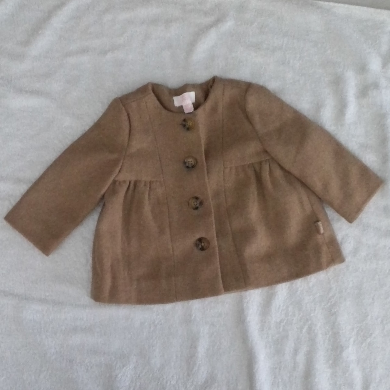 Gorgeous Baby Girl Winter Jacket Size 6-12m  Light Brown