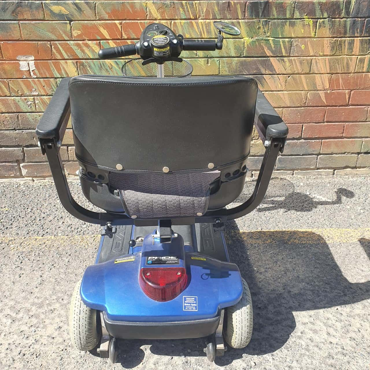 2002 Pride Revo Mobility Scooter, Blue PICKUP ONLY