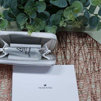 Swarovski Metallic Silver Wallet