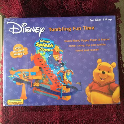 Reduced !!!  Disney Winnie The Pooh Tumbling Fun Time Toy, Age 3 & Up years, Brand New