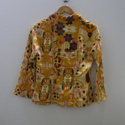 Scanlan & Theodore Colourful Silk Jacket Size 8