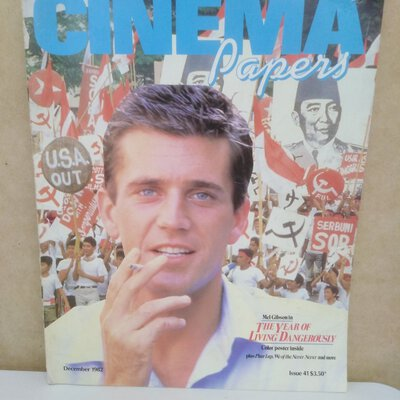"""3 x Vintage """"Cinema Papers"""" Magazines Circa 1980s each approx 100 pages"""