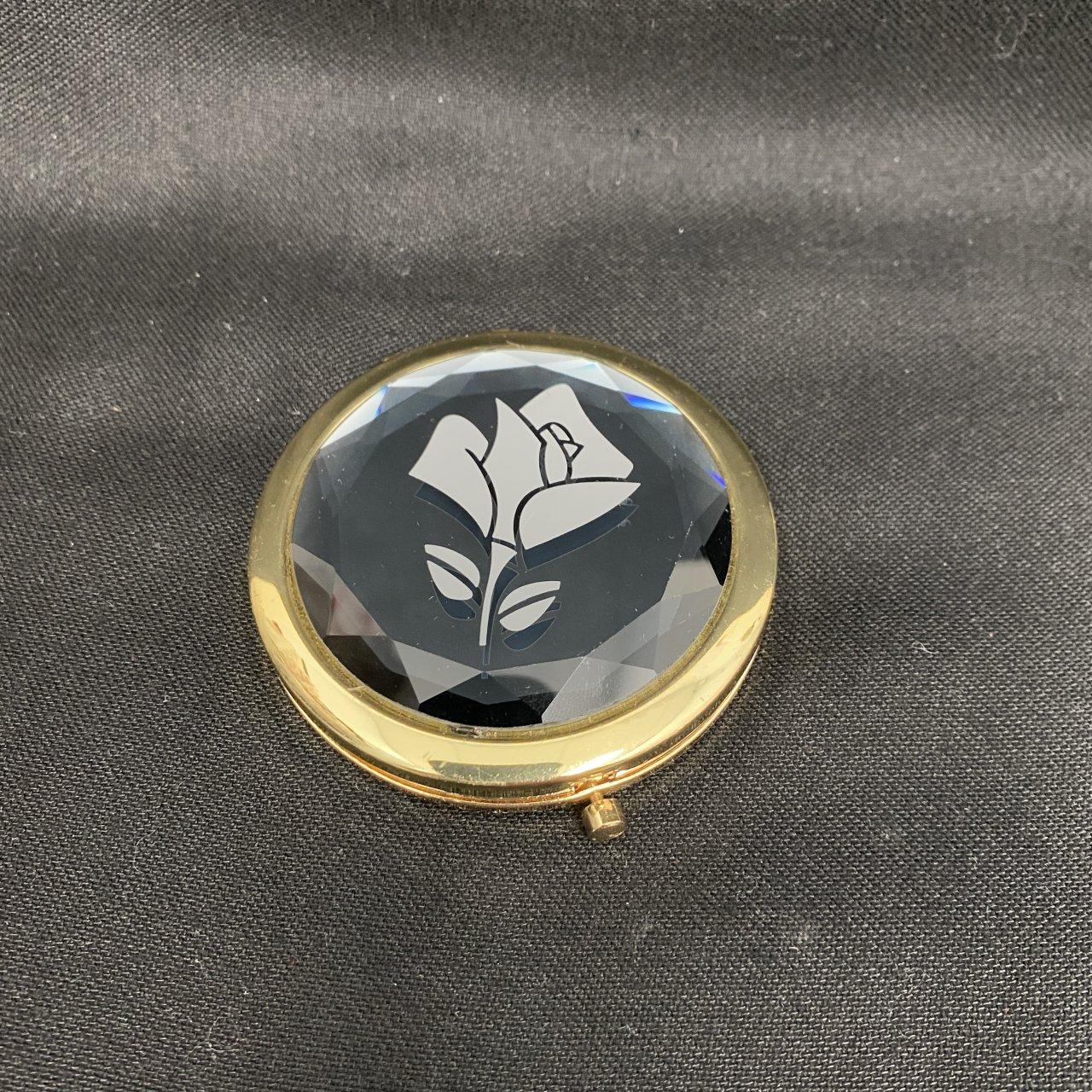 Lancôme Diamond Compact Mirror + Lip Gloss &Hand Cream Set