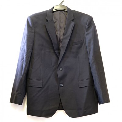 Trent Nathan, men's blazer and matching pants in black.  Blazer is 48 and Pants are 46.