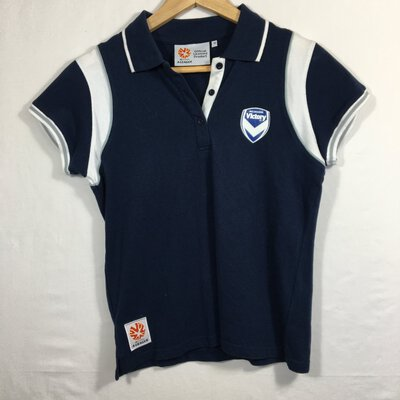Melbourne Victory Hyundai A-League Kids Blue And White Tee (Size 10)