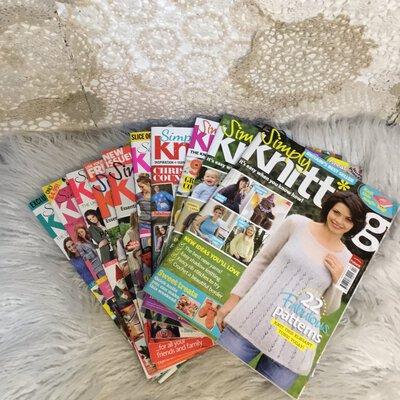 Simply Knit Pattern Books x 10