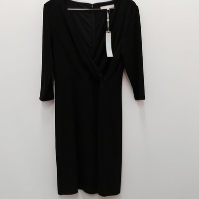 BNWT FENN WRIGHT MASON Women's Black Crossover Dress Size 16
