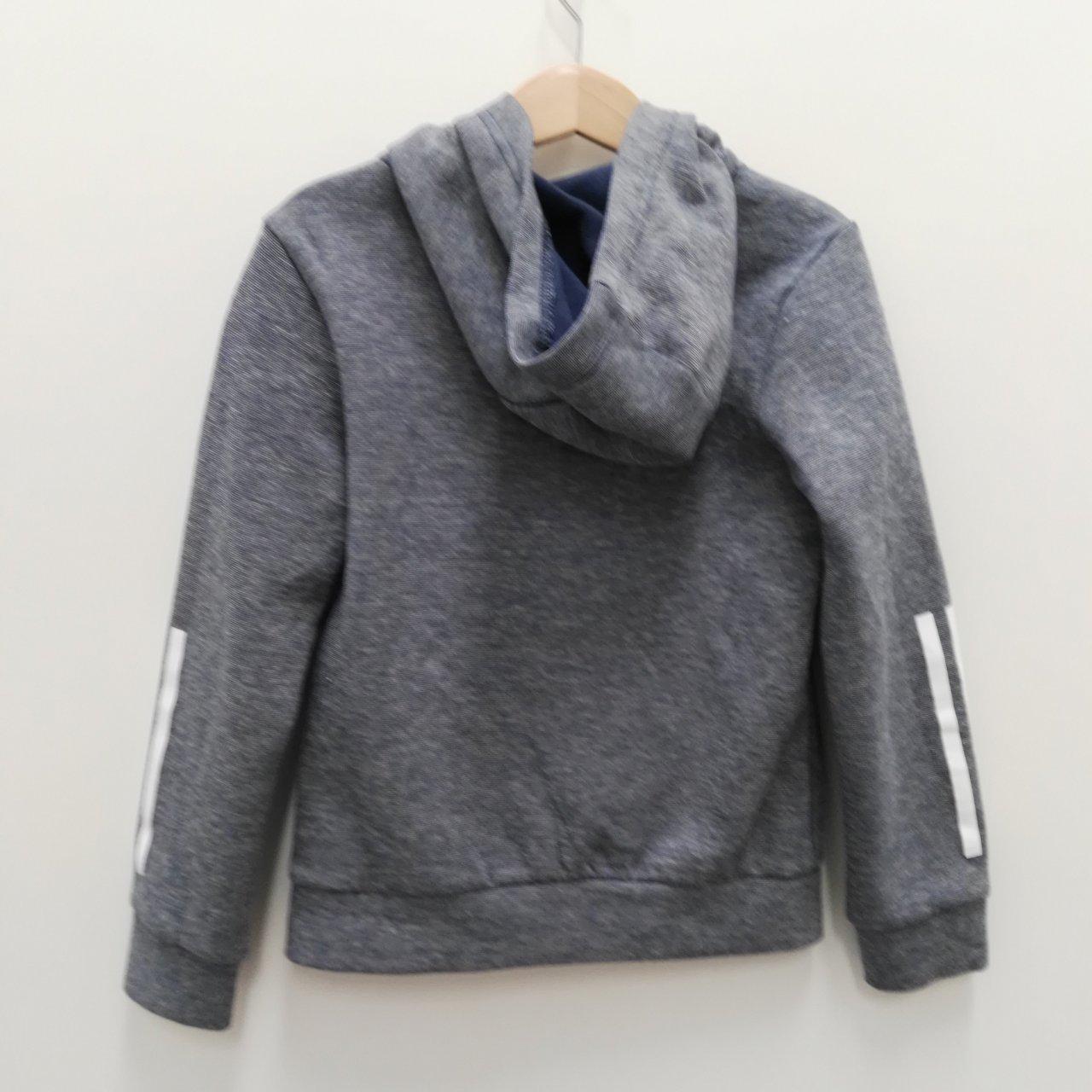 ADIDAS Kids Zip Up Hoodie Size 7-8 Years - Blue Jacket