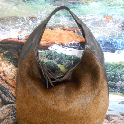 REDUCED TO CLEAR Brown LEATHER BAG BY MOOI