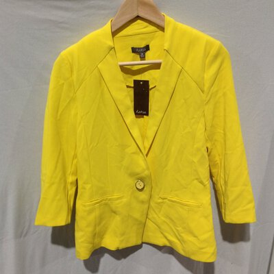 BNWT Women's Katies Tailored Blazer, Size 8, Sunshine Yellow