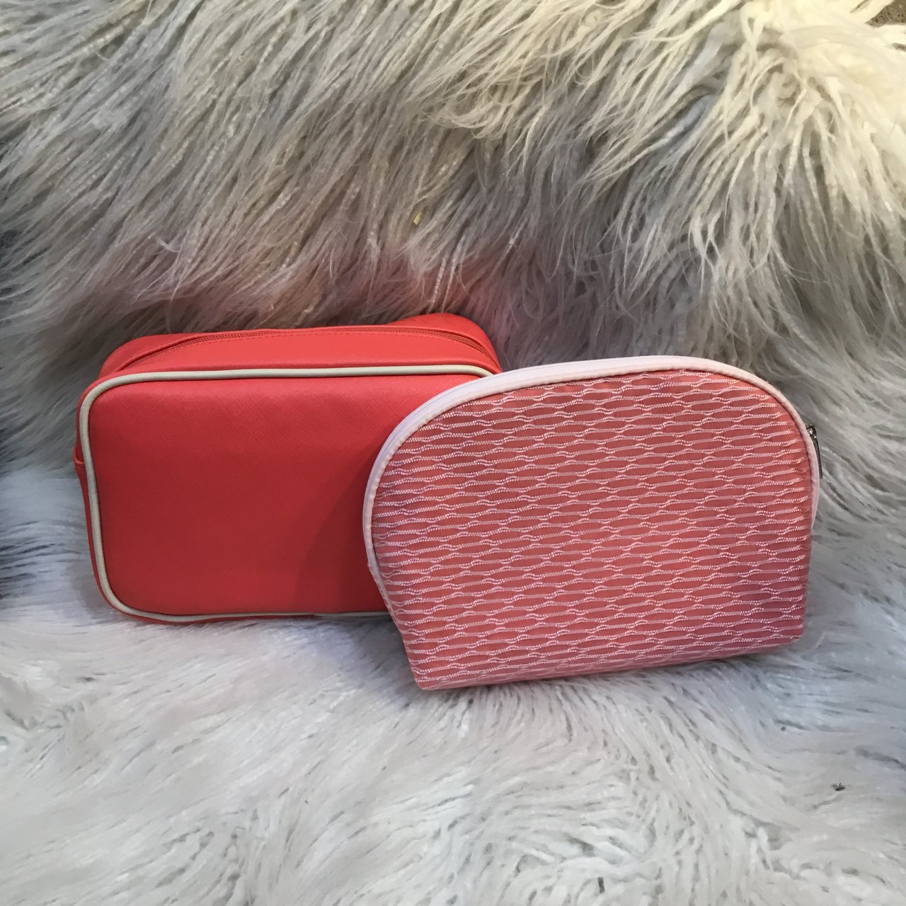 Two Pink Make-Up/Toiletry Bags