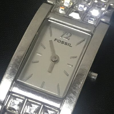 Fossil Ladies Silver Watch With Adjustable Band