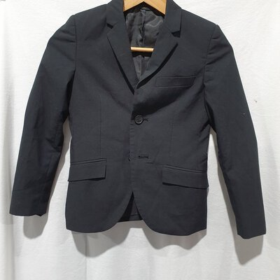 Indie & Co, Boys Formal Suit Blazer Jacket, Size 8,Black