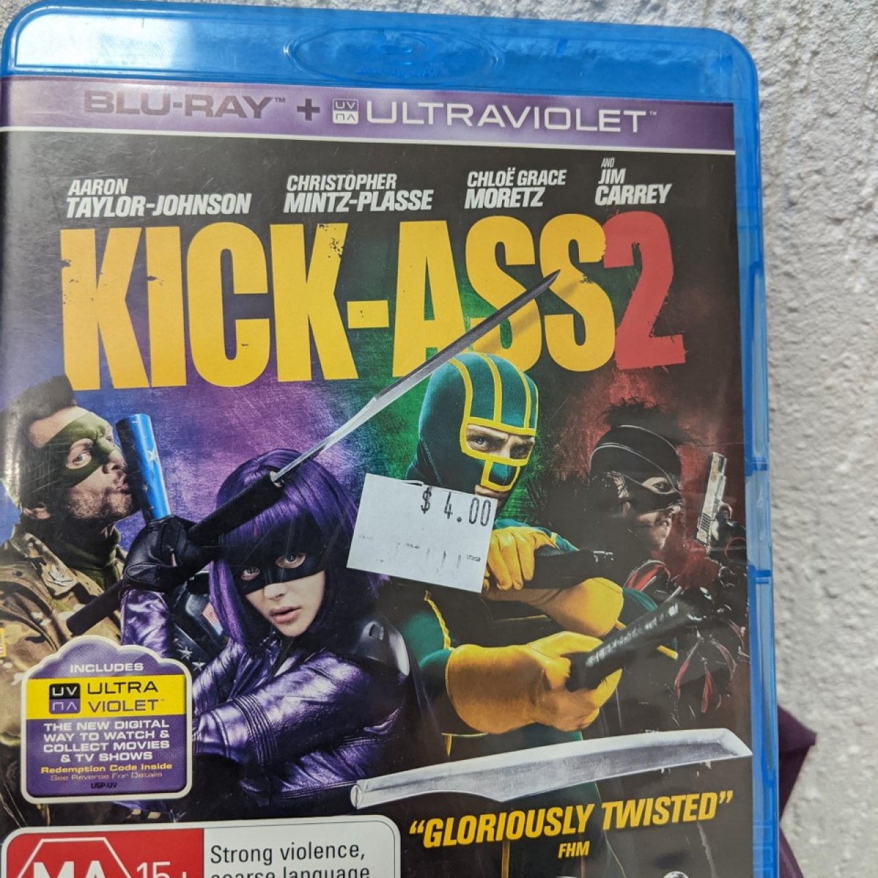 KICK ASS 2 -  BLU RAY DVD