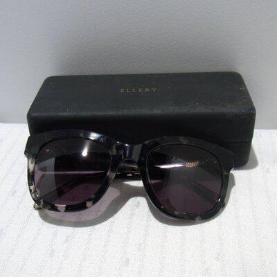 Women's Ellery Prescription Lense Black Tortoise Sunglasses
