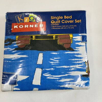 REDUCED -  Kids Korner Single Bed Quilt Cover Set - Original Packet