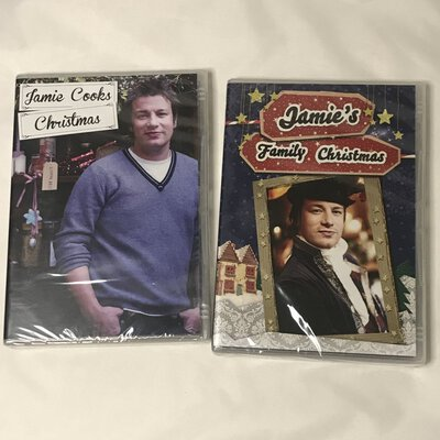 NEW & SEALED Jamie Oliver DVD - Jamie Cooks Christmas and Jamie's Family Christmas, Set of 2, Region 4