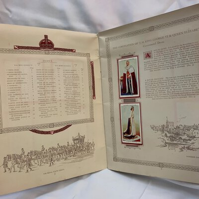 The Coronation of H.M. King George and H.M. Queen Elizabeth 1937: An Album to Contain Player's Coronation Series of Cigarette Cards