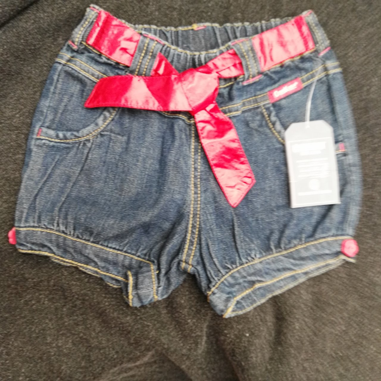 OSH KOSH Babies Denim Shorts Girls Size 1
