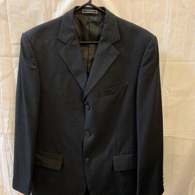 Armani, Male, Suit Jacket with Pants, Size 32, Pinstripe
