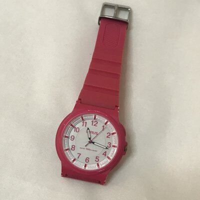 Lorus Ladies Watch - Pink With White Face - Water Resistant 100M