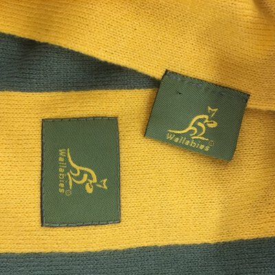 Walabies Rugby Green and Yellow Scarf