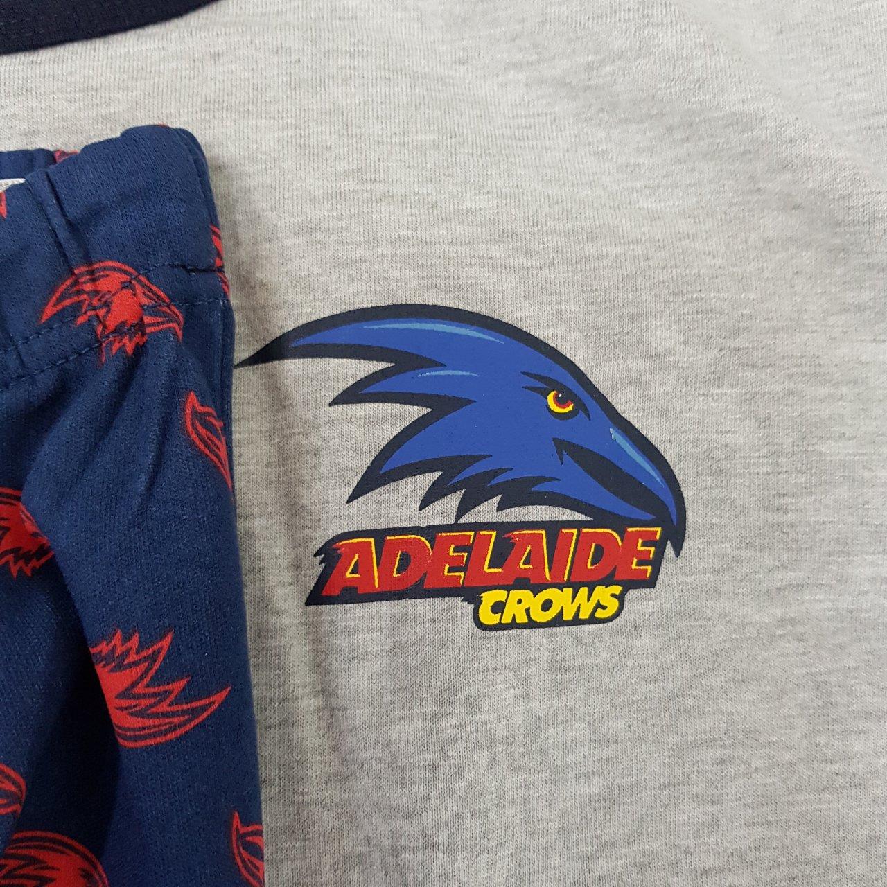 Official AFL Mens Adelaide Crows 2 pcs Pyjama Set Size 2XL.