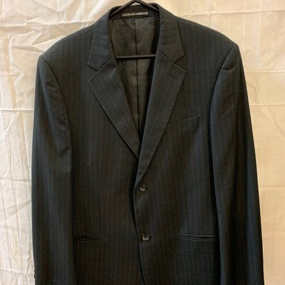 Giorgio Armani, Male, Suit Jacket, Size 52, Pinstripe,