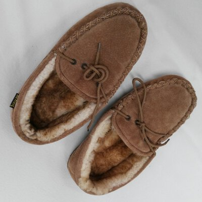 OLD FRIEND Mens Comfort Slippers Size 9 Brown