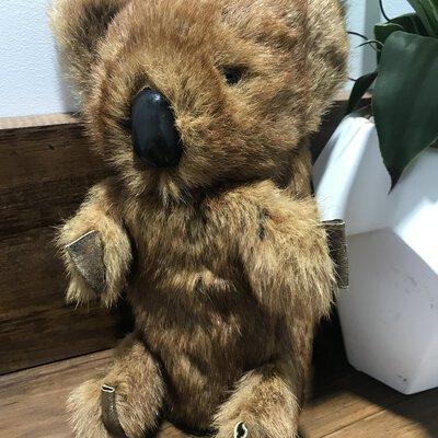 Vintage Fur Koala Toy