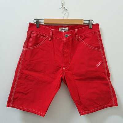 Men's 'Tommy' Red Shorts - Size M