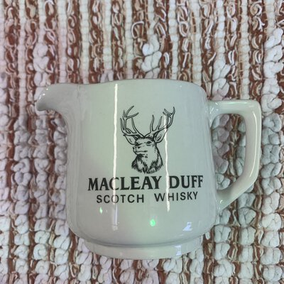 Macleay Duff, scotch Whiskey, jug, HCW, made in Great Britain
